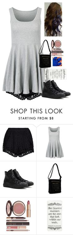 """""""k-con"""" by rocker2746 ❤ liked on Polyvore featuring New Look, Converse, Rimen & Co. and Charlotte Tilbury"""