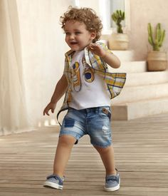Toddler Boy Summer Outfits That Look Cool and Cute - Outfit & Fashion Boys Summer Outfits, Little Boy Outfits, Summer Boy, Toddler Outfits, Baby Boy Outfits, Toddler Boy Fashion, Fashion Kids, Toddler Boys, Outfits Niños