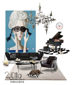 """""""Untitled #19"""" by annie-qiu on Polyvore featuring interior, interiors, interior design, home, home decor, interior decorating, ESPRIT, Stephen Kenn, Molteni & C and Rizzy Home"""