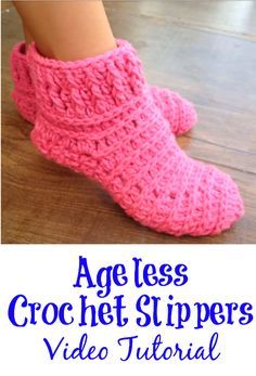 ageless crochet slippers Knitting TechniquesKnitting For KidsCrochet Hair StylesCrochet Amigurumi Crochet Socks Tutorial, Easy Crochet Slippers, Crochet Slipper Boots, Crochet Slipper Pattern, Crochet Gloves, Diy Crochet, Crochet Crafts, Crochet Projects, Crochet Patterns