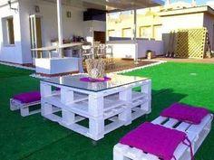 Faire un salon de jardin en palette | Salons, Banquettes and Pallets