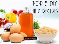Your hair needs extra care for good growth as well as prevent and treat any hair related problems such as hair-fall, dandruff, split ends, baldness etc. To treat these problems with natural homemade treatments, today we will share 5 amazing hair recipes which you can DIY at home.   CURRY LEAVE AND COCONUT HAIR TONIC...