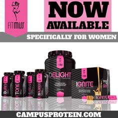 Fitmiss is a supplement line designed specifically for women only. There is protein, fat burners, toners, cleansers and more!  To get Fitmiss, free samples with your order, or any other supplements go to campusprotein.com, select what you want, then select Twitter as the school you attend, then select ma_richardson at checkout for your rep.