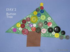 little learners lounge: Craft A Day 'Til Christmas: Day 2: Button Tree