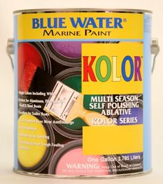 Blue Water Marine Paint KOLOR. Royal Blue. Multi-season Protection - Average Boater .50. 100 hours. will get anti-fouling protection of 2-3 years. 400 square feet / gallon. Aluminum, White, Bright Colors. Powerboat Reports. Covers 300. March, 2008. This product provides antifouling protection against barnacles, algae and hydroids in salt and fresh water on boat bottoms only. Perfect for Bright Colors, Aluminum & Fiberglass, and Trailerable Boats. Combine all of that with a...