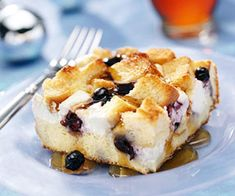 Blueberry surprise french toast casserole Cream cheese is the secret ingredient in this blueberry breakfast casserole.