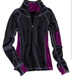 Purple/black pullover