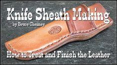 Knife Sheath Making  - How to Make Leather Knife Sheaths  - Leatherworki...