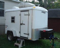 Enclosed Trailer Camper Conversion, Enclosed Cargo Trailers, Cargo Trailer Conversion, Homemade Camper, Diy Camper, Camper Ideas, Airstream, Trailer Diy, Work Trailer