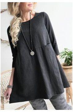Linen Tunic Dress, Linen Dresses, Casual Dresses, Tunic Dresses, Black Tunic Dress, Tunic Blouse, Tunic Sewing Patterns, Tunic Pattern, Linen Dress Pattern