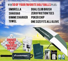 50 Of Your Favorite Golf Balls & An Accessory Package Sweepstakes