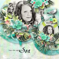 Sea by Ilonka's Scrapbook Designs #  J Creations - iNSD Free Template #  Wordart: Driftwood by G Designs