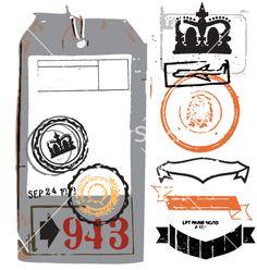 Free vintage luggage tag vector