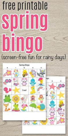 Free printable spring bingo for kids. This spring bingo game is an easy, low-prep activity for kids! It's a great, screen-free activity for rainy days. Get your free printable bingo games for spring from The Artisan Life. Bingo Games For Kids, Activities For Girls, Printable Activities For Kids, Spring Activities, Kids Games Free, Free Printable Bingo Cards, Free Printables, Bingo Board, Lessons For Kids