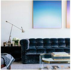Velour living room