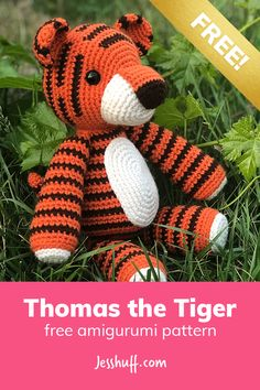 Thomas the Tiger Free Amigurumi Pattern