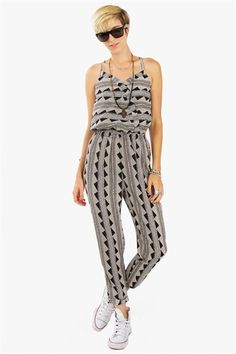 TRIBAL TRACKS JUMPSUIT / www.silk-seed.com