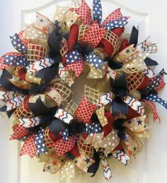Hey, I found this really awesome Etsy listing at https://www.etsy.com/listing/230132366/patriotic-wreath-4th-of-july-wreath