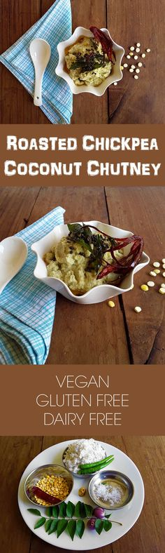 Roasted Chickpea Coconut Chutney - A mild and tasty, melt-in-the-mouth chutney to go with pongal, idli, dosa and vada.