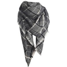 Womens Fashion Warm Plaid Shawl Scarf Dark Gray (39 BRL) ❤ liked on Polyvore featuring accessories, scarves, sciarpe, tartan shawl, plaid shawl, tartan plaid shawl, tartan scarves and tartan plaid scarves