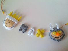 Where the Wild Things Are Felt Name Banner - custom made - Personalised Name Garland on Etsy, $40.00