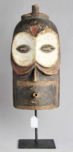Masque Bembe Hibou ART Africain Congo Belge Tribal Kongo Masker African Mask OWL | eBay
