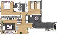 ACHADOS DE DECORAÇÃO - blog de decoração Layouts Casa, House Layouts, Small House Plans, Tiny House, Floor Plans, Flooring, How To Plan, Architecture, Home