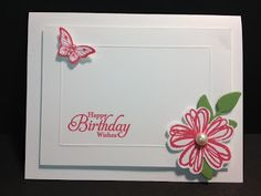 A Flower Shop Papillon Birthday Stampin' Up! Rubber Stamping Handmade Cards