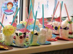 Milkshake knutselen met kleuters , thema restaurant, kijk voor meer info op kleuteridee.