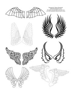The Sum Of All Crafts: Sunday Digital Design - wing patterns Fairy Templates, Paper Templates, Wings Drawing, Fairy Clothes, Angel Crafts, Fairy Jewelry, Steampunk Design, Silver Wings, All Craft