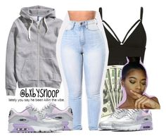 """""""Nike should sponsor me"""" by bxbysnoop ❤ liked on Polyvore featuring H&M, T By Alexander Wang and NIKE"""