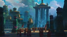 ArtStation - Emerald Water Tower, Ben Redekop
