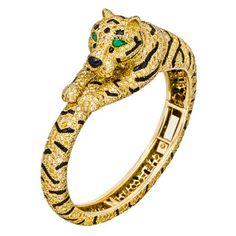 animal bracelets | estate cartier tiger bangle bracelet tiger bangle bracelet mounted in ...