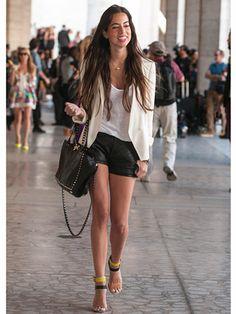 Adriana Lugo Lamarque shorts, Zara shoes, Madewell jacket, Valentino bag (@adrianalugo6)