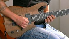 Julien Lamarre playing his Hufschmid 7 string baritone! Custom Guitars, Music Instruments, Instagram, Videos, Musical Instruments