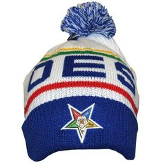 Order of the Eastern Star Pom Pom Beanie Hat (Front)