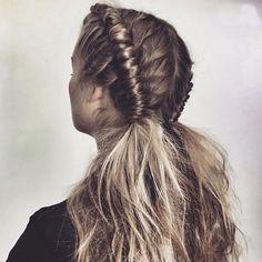 'Pipe braid', el mejor peinado para un festival. #hairstyles #peinados #festival #inspirational #braids #trenza