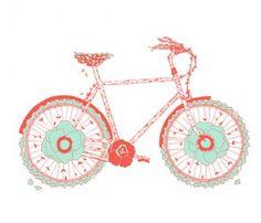 Flowering Bicycle Poster