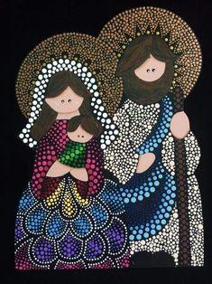 Pinturas Mandala Artwork, Mandala Painting, Mandala Dots, Mandala Design, Christmas Crafts To Make, Christmas Art, Fingerprint Art, Arte Country, Nativity Ornaments
