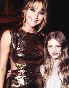 Katniss (Jennifer Lawrence) and Prim (Willow Sheilds) they are soo awesome!!