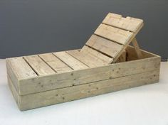 Ligbed oud gebruikt steigerhout met 3 standen leuning, (22520131622)