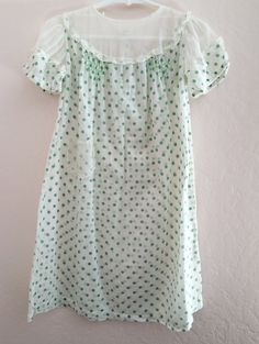 1920's/1930's Green Polka Dot Toddler Dress // by bumbleandboogs
