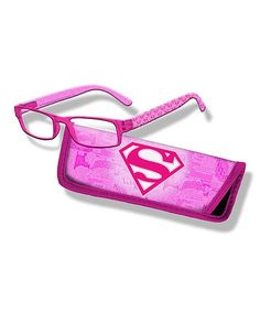 Pink Superman Logo Readers