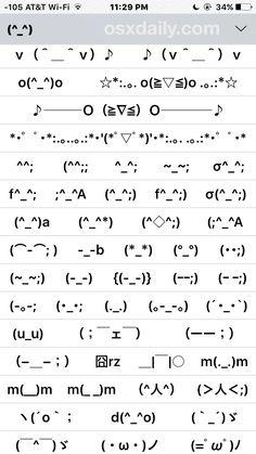 Trick to Enable a Hidden Emoticon Keyboard on iPhone, iPad - Techy Ways Emoticon Keyboard, Keyboard Symbols, Emoji Symbols, Emoticons Text, Emoji Text Art, Cute Text Symbols, Simbolos Para Nicks, Homeschool, Hilarious Texts