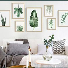 Modern-Nordic-Green-Plant-Leaf-Canvas-Art-Poster-Print-Wall-Picture-Home-Decor
