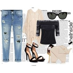 Sheinside III/2 by nerma10 on Polyvore featuring polyvore fashion style MANGO Kate Spade Oliver Peoples Sheinside