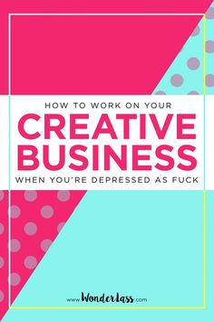 How to work on your creative business when you're depressed as fuck. Click through for 20 tips to help you get work done in your blog + creative business when you're dealing with depression!