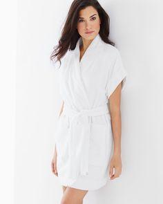 Cotton Terry Short Sleeve Robe