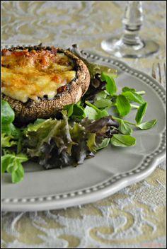 Sweet my Kitchen: Cogumelos recheados com presunto e queijo de Azeitão