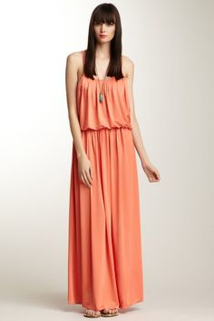 {Pleated Maxi Skirt} Isabel Lu - such a pretty colour